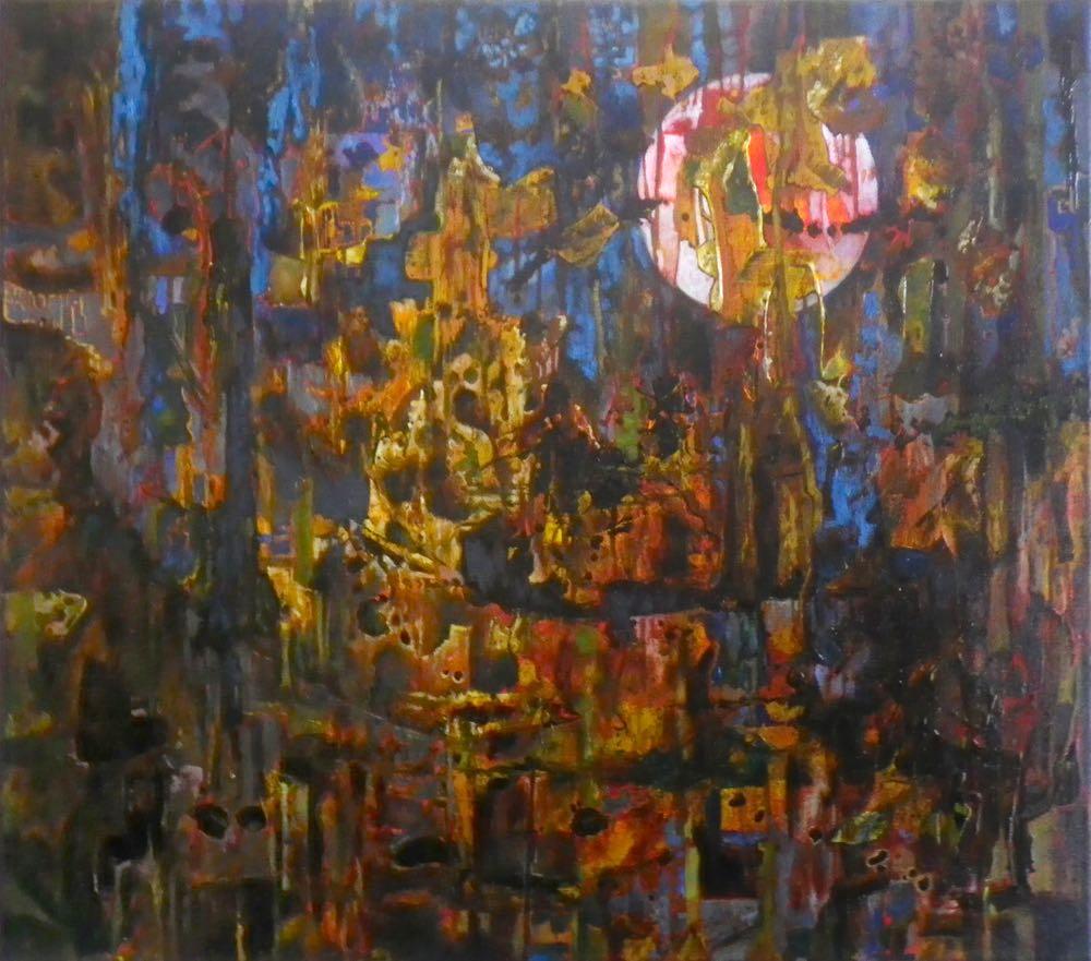 Sander ten Napel - Chasing the Moon (olieverf op doek, 80 x 70 cm)