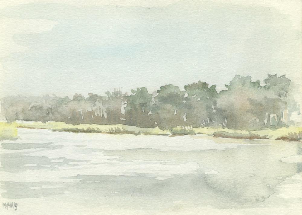 Drenthe, Brandeveen, Uffelte (aquarel, 2019)