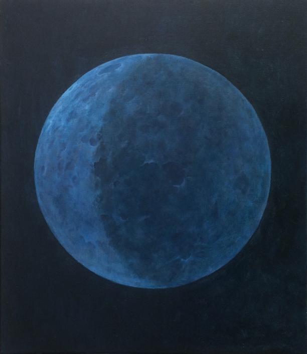 Blauwe Maan (olieverf op doek, 98 x 107 cm)