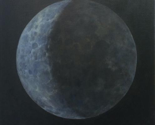 Grijze Maan (olieverf op doek, 98 x 107 cm)