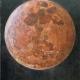 Maan, Rood (olieverf op paneel 20 x 25 cm)
