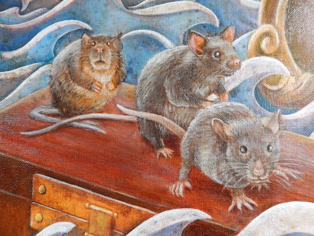 Thee met Kaneel Detail (olieverf op doek, 120 x 80 cm)