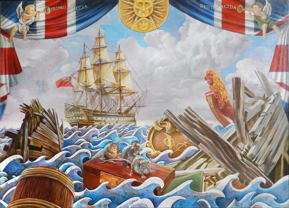 Thee met Kaneel (olieverf op doek, 120 x 80 cm)